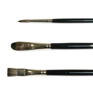 Green & Stone Black Russian Sable Oil Brushes