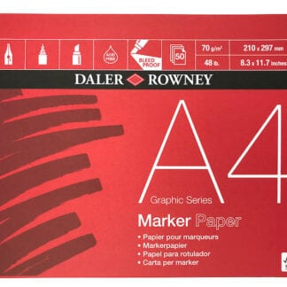 150gsm Daler Rowney Canford Assorted Colour Pad A4
